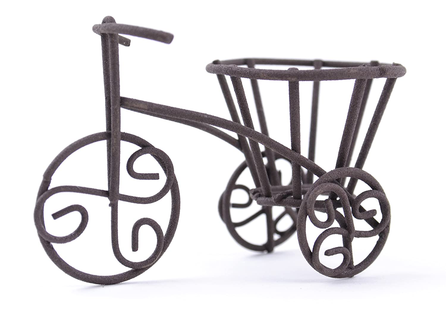 Touch of Nature 2.75 by 1.5 by 2-Inch Fairy Garden Bicycle Yard Art Mini Rustic