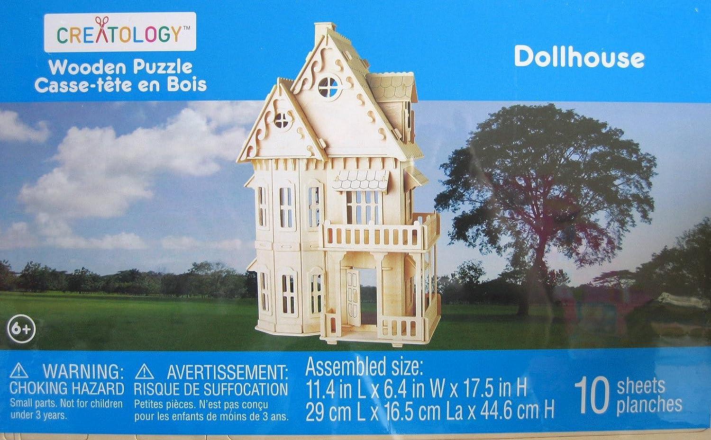 新到着 Creatology Wooden Puzzle Puzzle: Dollhouse Dollhouse 3-D Creatology Wood Puzzle B003MRQI5Y, アクセサリー雑貨ひまわり:61229d2e --- quiltersinfo.yarnslave.com