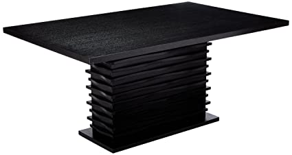 Amazon Com Stanton Rectangular Dining Table Black Kitchen Dining