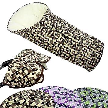 Bambiniwelt Kombi Angebot Muff Winterfußsack Mumie Aus Lammwolle Für Kinderwagen Buggy Schlitten Mosaik Braun Mosaik Xx Baby