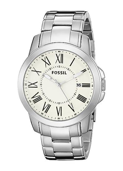 Fossil FS4734 - Reloj (Reloj de Pulsera, Masculino, Acero Inoxidable, Acero Inoxidable