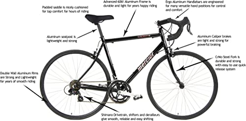 Mercier Aluminum Road Bike Galaxy SC1 Commuter Bike Racer by Cycles
