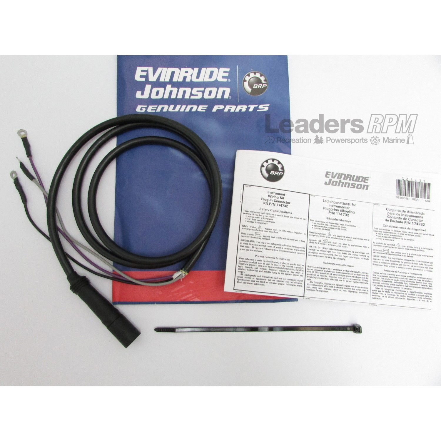 Evinrude Johnson Omc New Oem Instrument Tach Wiring 100 Harness Diagram 174732 0174732 Automotive