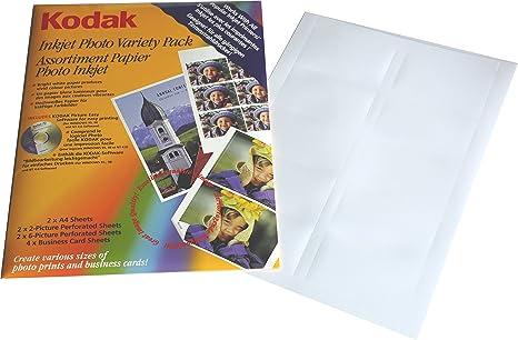 Kodak Photo Papel fotográfico surtidos (total de 10 hojas ...