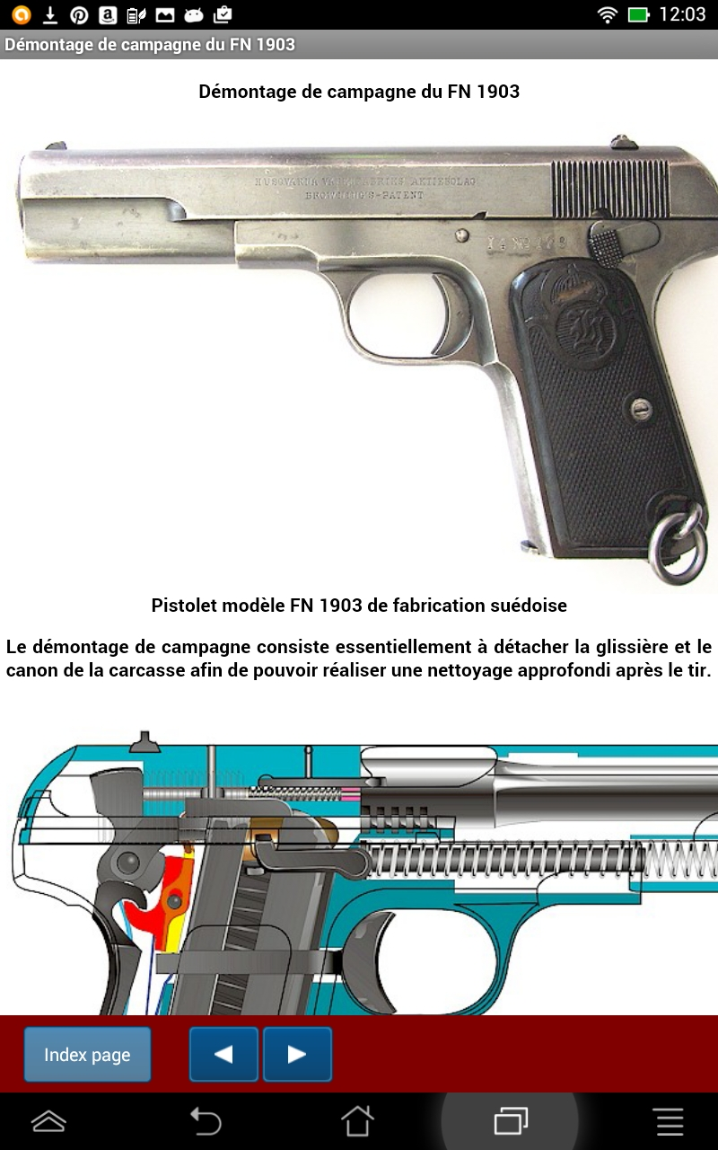 Fn Pistol Model 1903 Explained Warning French Version Colt1911assemblyschematic Government 380 Accessories Numrich Gun Appstore For Android