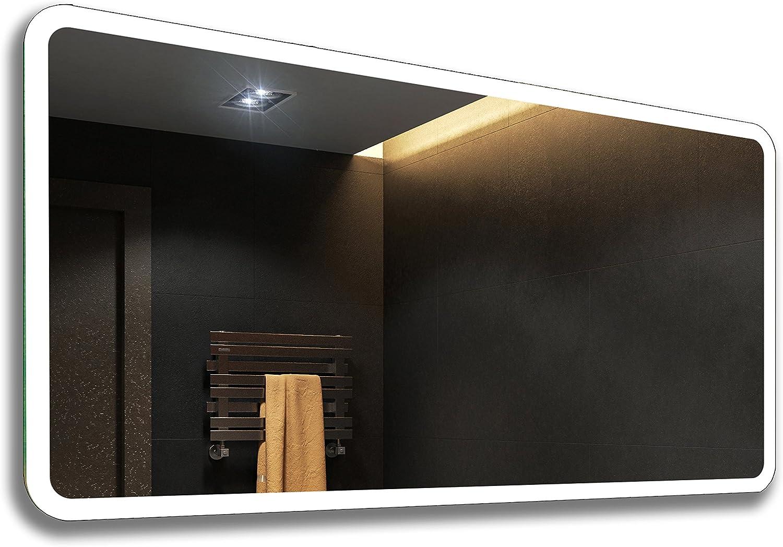 su Misura Specchio LED sala da Bagno Retroiluminato con illuminazione L59 50x50cm