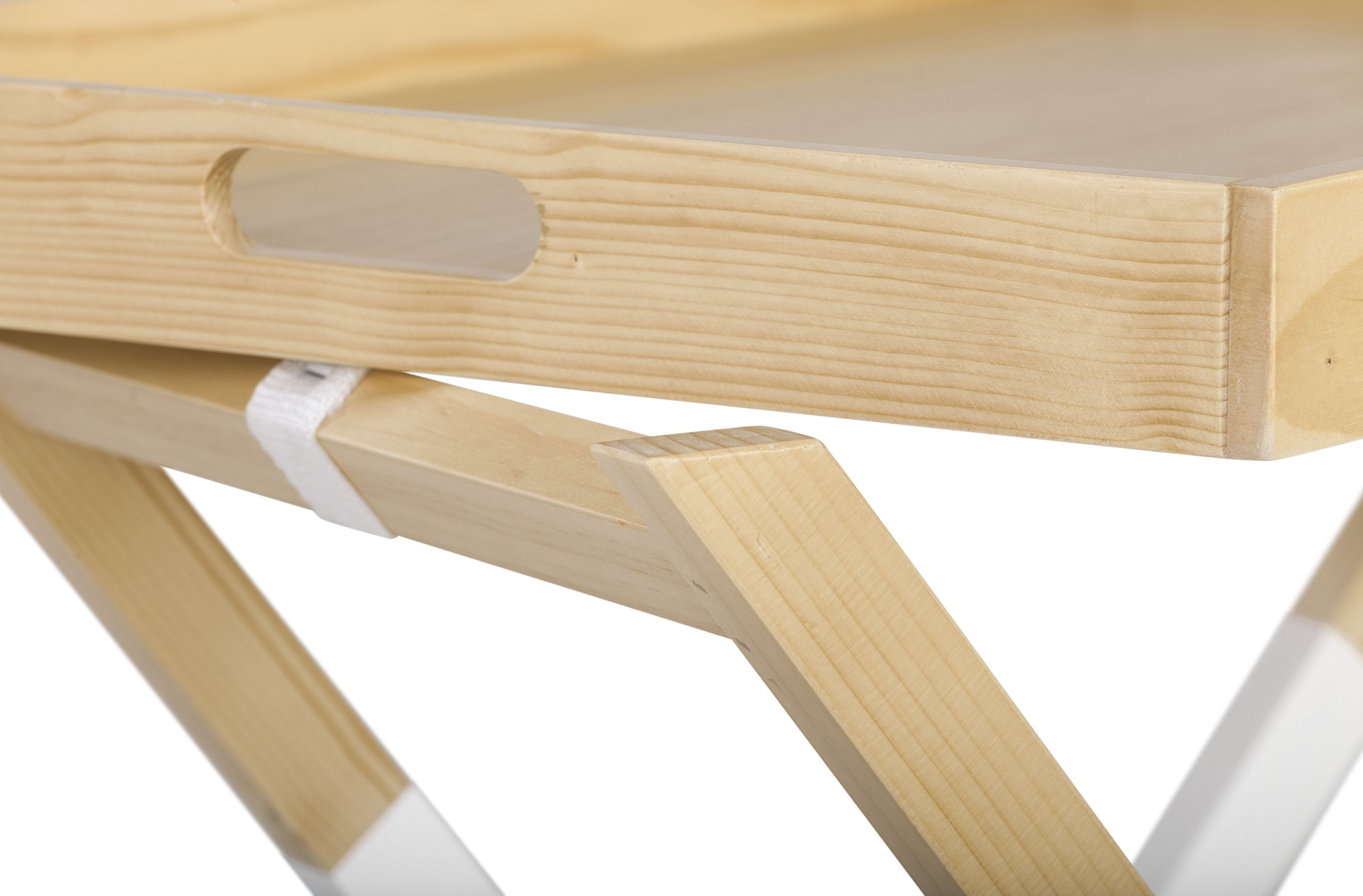 Universal Experts FUST10026A Remus Folding Tray Table, Oak/White by Universal Experts (Image #9)