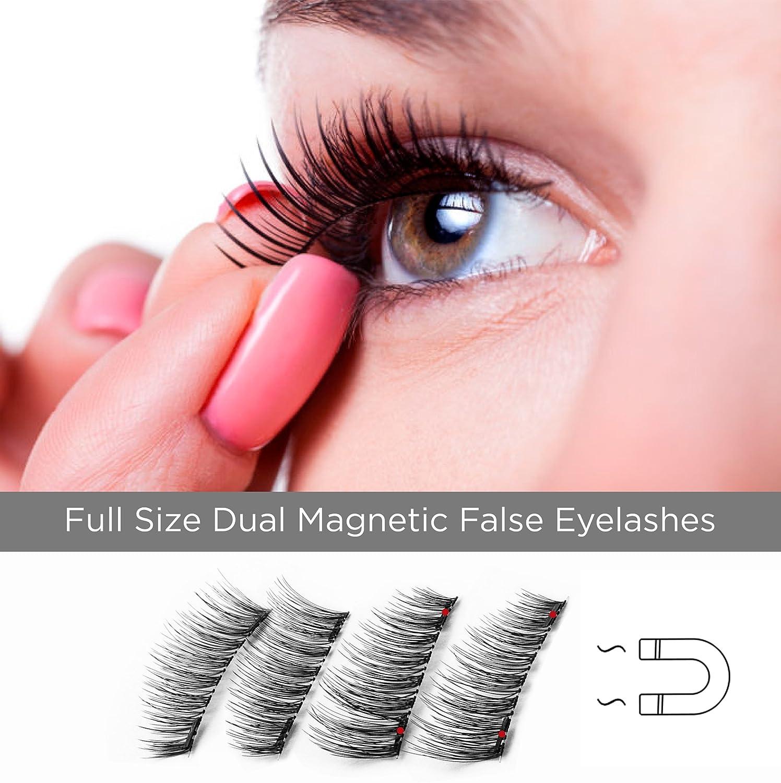 Amazon Full Size Dual Magnetic False Eyelashes Set 4 Pieces