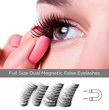 c98cdd6bf6b Full Size Dual Magnetic False Eyelashes Set (4 pieces) - Handmade 3D Fake  Magnetic