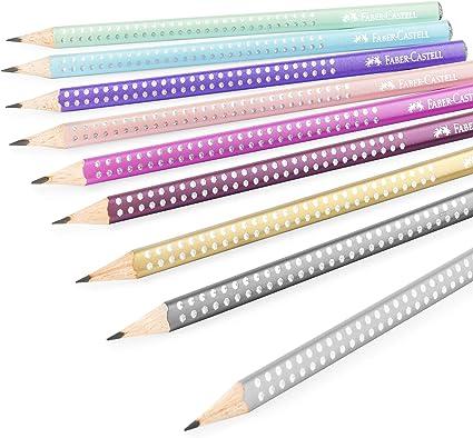 Faber-Castell Sparkle Pearl - Lápices de grafito (9 unidades, 1 de cada color): Amazon.es: Oficina y papelería