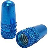 Ruler(ルーラー) アルミバルブキャップ 仏式バルブ用 ブルー LY-NC-FRBL