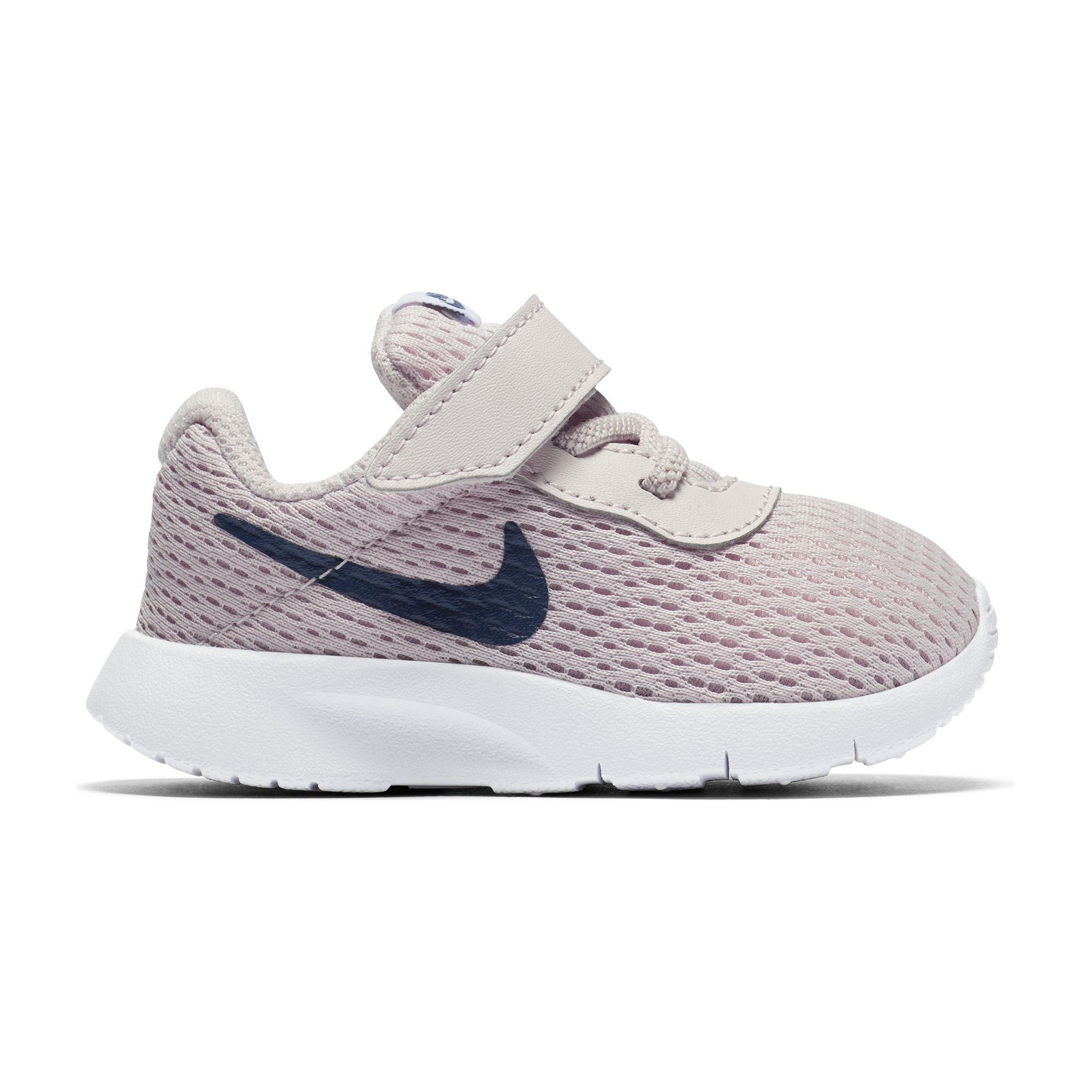 7c79211b4648 Galleon - NIKE Girl s Tanjun Shoe Barely Rose Navy White Size 9 M US