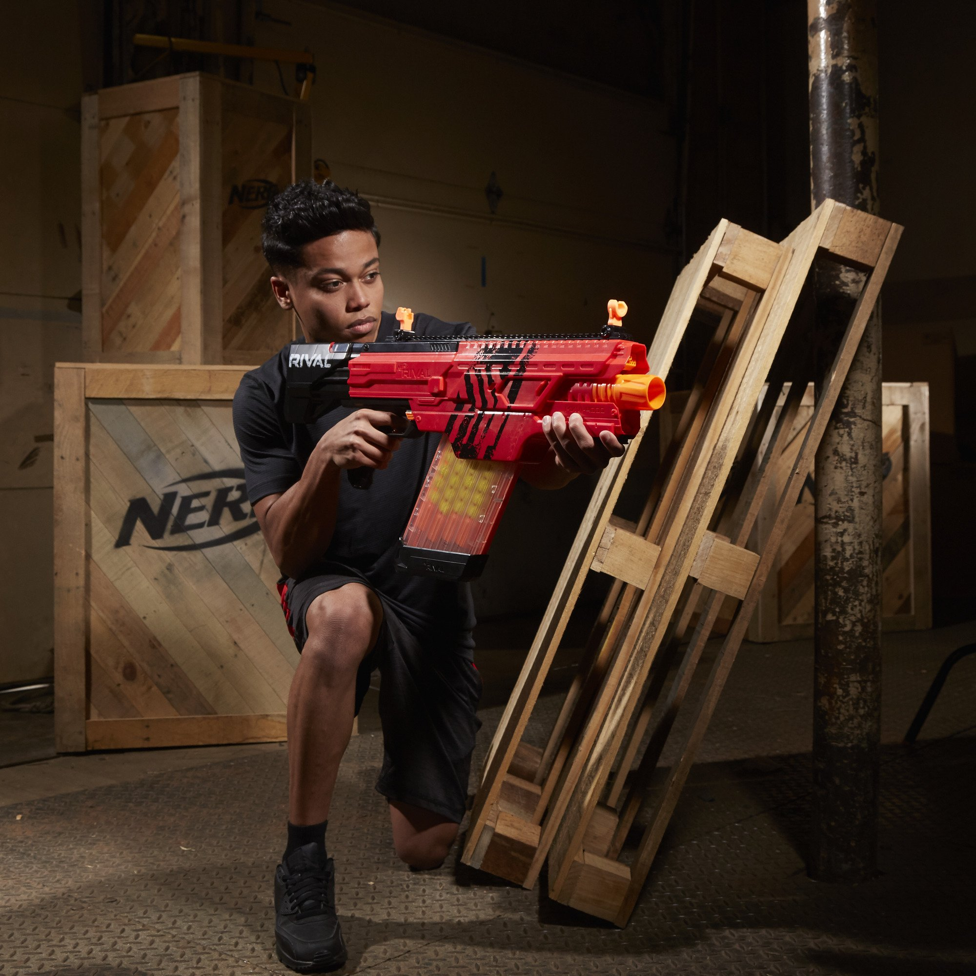 Nerf Rival Khaos MXVI-4000 Blaster (Red) by NERF (Image #4)
