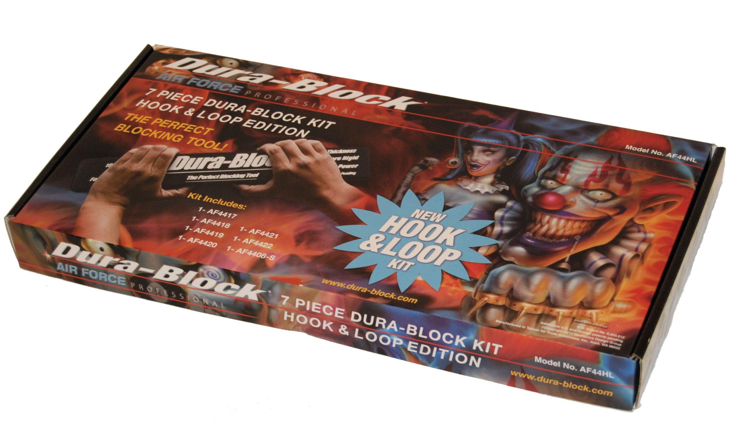 Dura-Block AF44HL Hook & Loop Black 7-Piece Sanding Block Set by Dura-Block