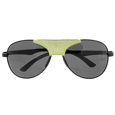 cd0125914fe9 Iced Out Aviator Style Sunglasses Black Lenses Gold Tone Lab Diamonds UV  Protection  Amazon.co.uk  Jewellery