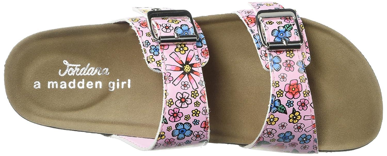 Madden Girl Women's Brando-J Slide Sandal B07757LMJG 6.5 B(M) US|Pink/Multi