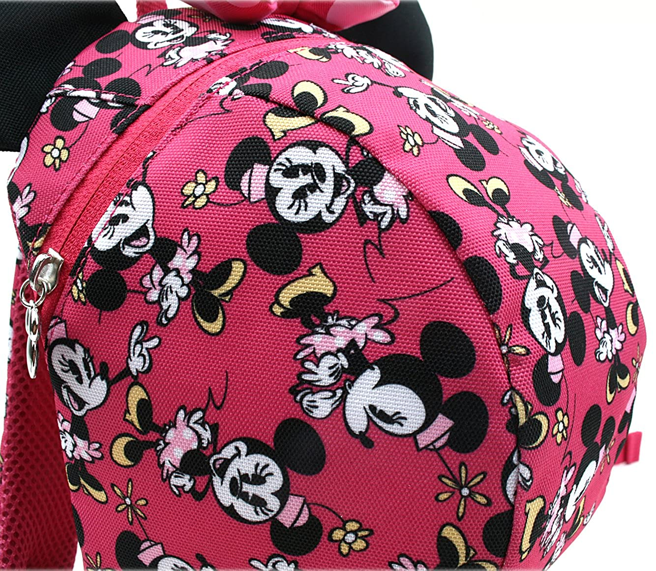 Disney Mickey Minnie Mouse Dome Small Backpack with a Strap to Prevent Toddler Children from Missing
