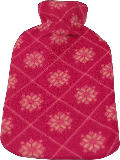 Wärmflasche XL 2 Liter Wärmekissen Wärmflaschen flauschiger Bezug Entspannung