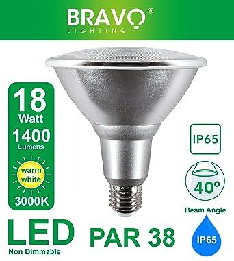 À Halogène W Chaud Lampe 3000 Ip65 Led E27 18 Par38 Bravo Lighting Équivalent K Blanc 150 4A5Rq3Lj