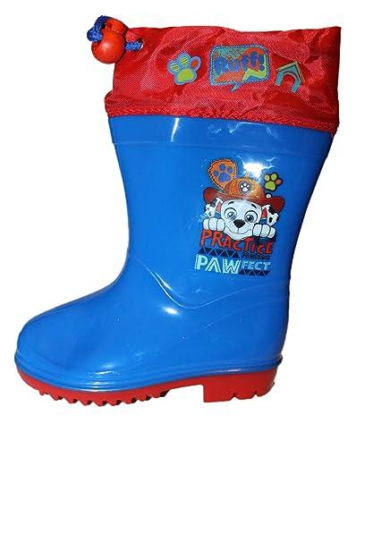Nickelodeon Bottes de Pluie Pat Patrouille Bleu Garçon