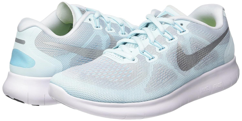 Amazon.com | Nike Womens Free Run 2017 Glacier Blue/Metallic Silver Running Shoes (9.5 B US) | Road Running