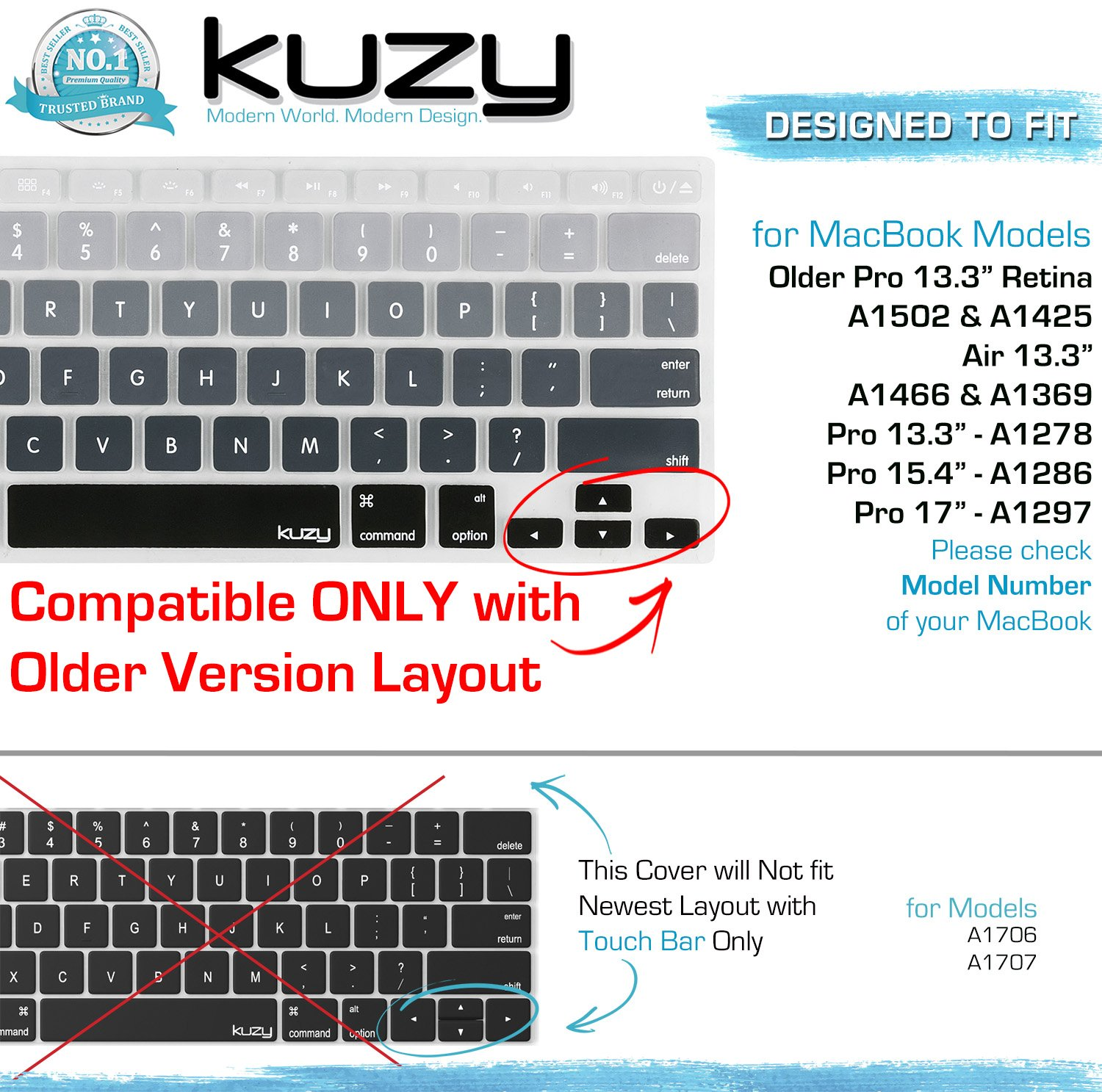 Kuzy Gray Ombre Colors Keyboard Cover Silicone Skin For Rearth Macbook Air 13 Keyskin Black Pro 15 17 With Or W Out Retina Display Imac And Mix