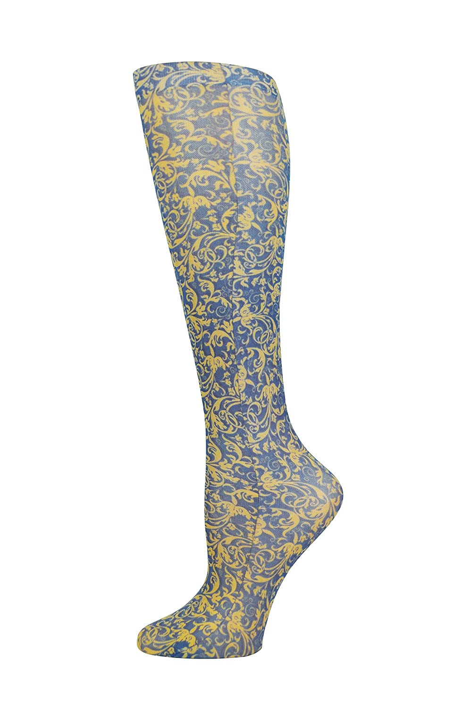 Navy Damask 1 Pound Complete Medical Manufacturing Group BJ255235 Complete Medical Blue Jay Fashion Socks 15-20 mmHg
