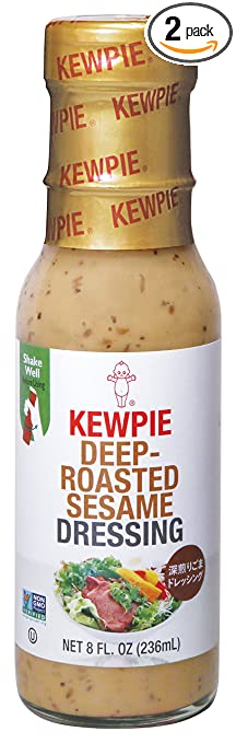 Kewpie Deep-Roasted Sesame Dressing, Creamy, 8 Ounce (Pack of 2)