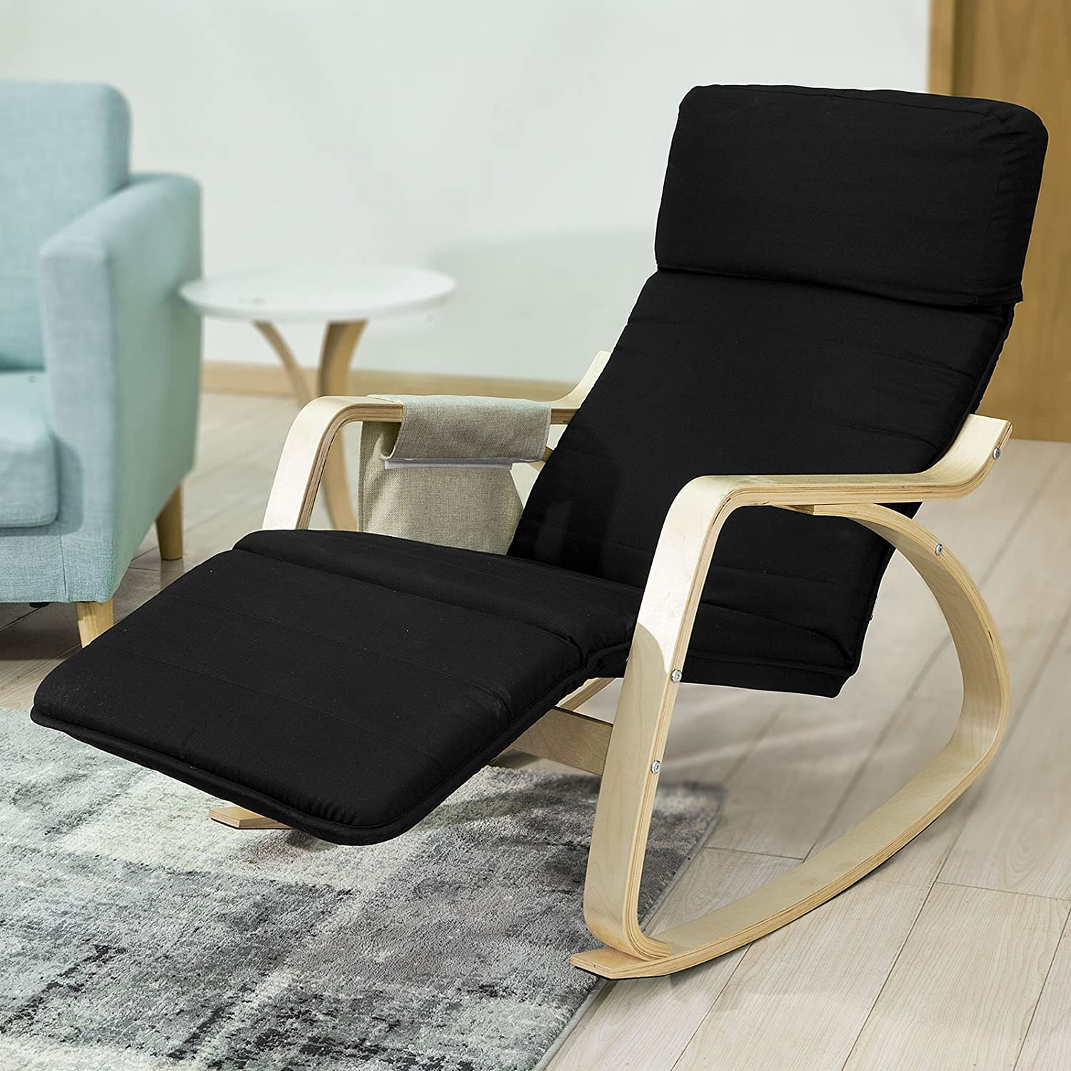 SoBuy NEW fortable Relax Rocking Chair with Footrest Design