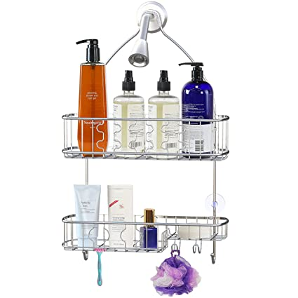 Amazon.com: Simple Houseware Bathroom Hanging Shower Head Caddy Organizer,  Chrome (26 X 16 X 5.5 Inches): Home U0026 Kitchen