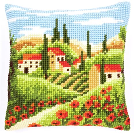 Amazon.com: Vervaco PN-0144846 Lienzo Village & Poppy Fields ...