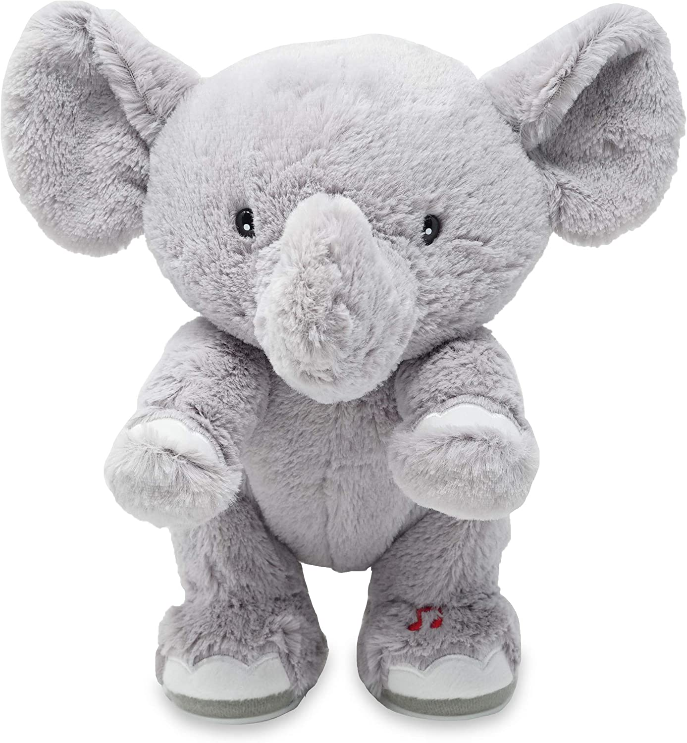 Adorable Pig or Elephant Performs Head Cuddle Barn and Toes Knees Head to Toe 12 Animated Stuffed Animal Plush Toy Shoulders Head to Toe Tucker
