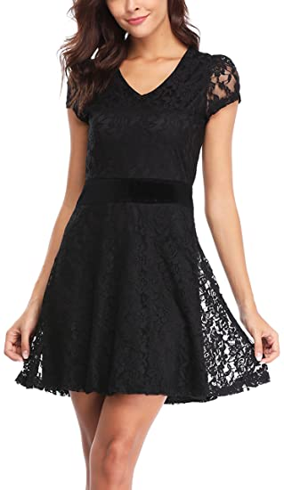 Miss Moly Lace Dresses For Women Party Wedding Short Sleeve Formal