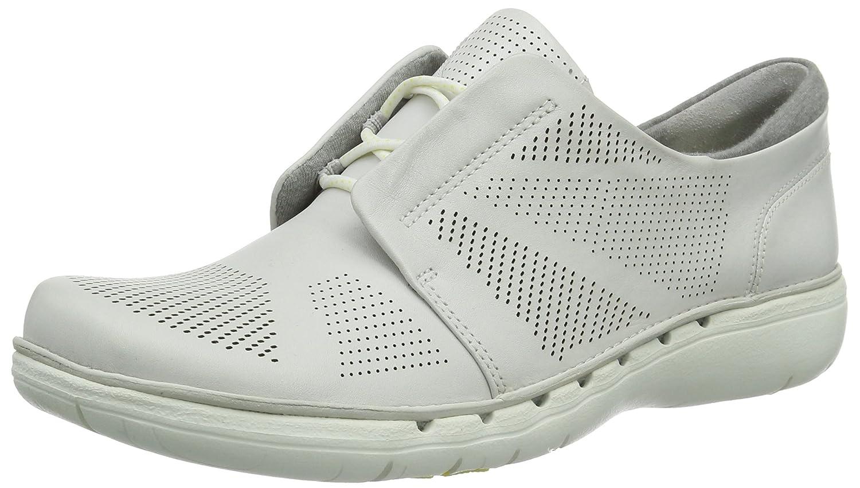Clarks Un Voltra - Zapatillas para Mujer 35.5 EU Blanco (White Leather)