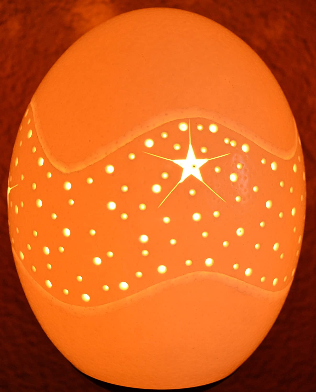 Straußenei-Lampe
