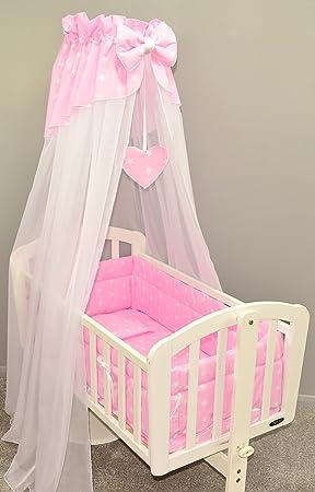 10pcs CRIB bedding set //Bumper//sheet//duvet//CANOPY//Canopy Holder//HEARTS