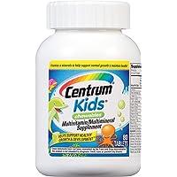 Centrum Kids Multivitamin/Multimineral Supplement (Cherry, Orange, & Fruit Punch Flavor, 80-Count Chewables)