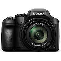 Panasonic Lumix DC-FZ82 Bridgekamera (18 Megapixel, 20mm Weitwinkel, 60x opt. Zoom, 4K30p Videoaufname, Hybrid Kontrast AF) Schwarz