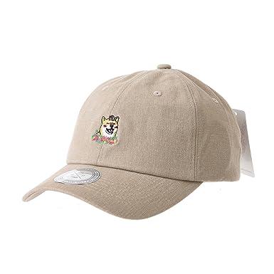 019b0f3312f WITHMOONS Baseball Cap Shiba Inu Dog Flower Mellange Cotton Hat AL1896 ( Beige)