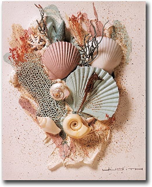 Ocean Starfish Sea Shell Beach Bathroom # 1 Wall Picture 8x10 Art Print