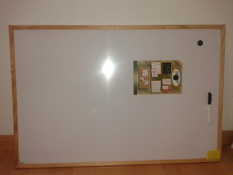 Faibo 844849 - Lavagna bianca magnetica 60X90 quadro di legno 702-3