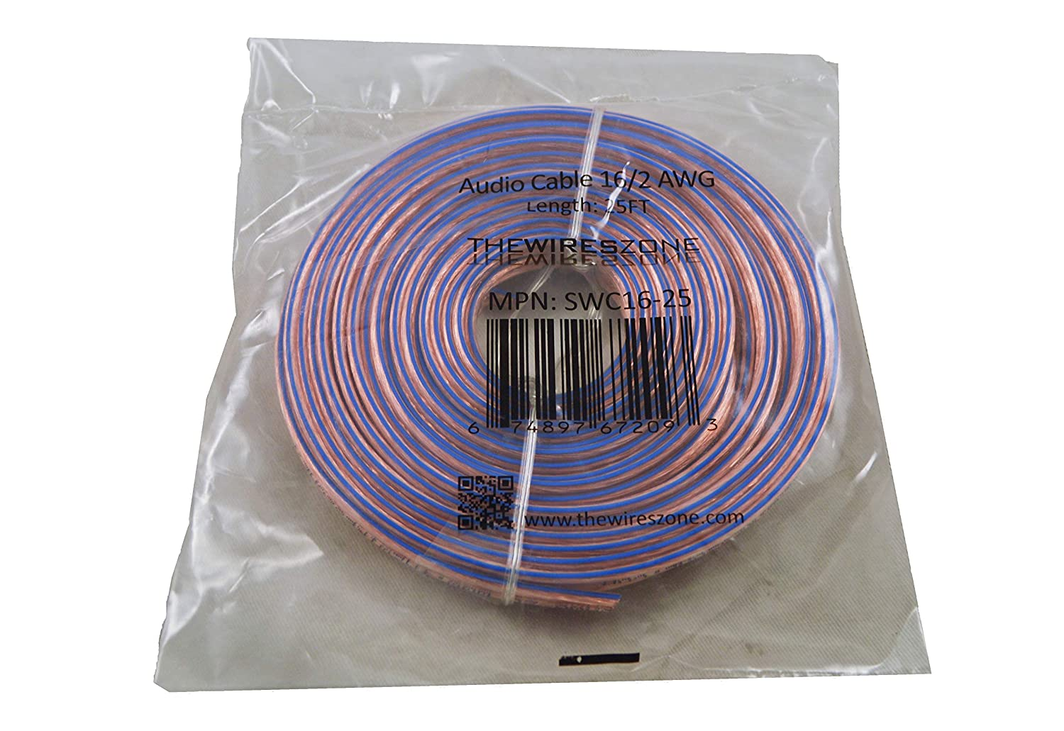 250 feet Car Home Audio Speaker Wire Transparent Clear Cable 16AWG 16//2 Gauge