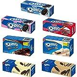 Oreo Variety Cookies, Thin, Wafer, and Sandwich Cracker, Chocolate, White, Vanilla, Strawberry, Mild Sweet, and Tiramisu…