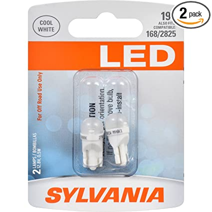 Amazon.com: SYLVANIA 194 T10 W5W White LED Bulb, (Contains 2 Bulbs): Automotive