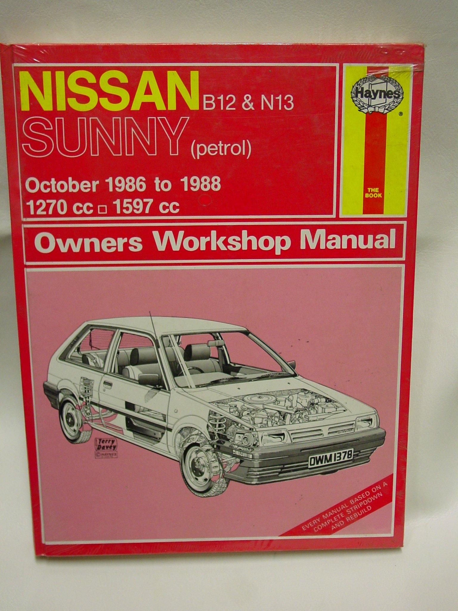 NISSAN B12 & N13 SUNNY Oct 1986-1988 (Haynes Owner's Workshop Manual):  Amazon.co.uk: Ian M Coomber: 9781850103783: Books