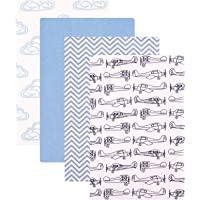Hudson Baby Unisex Baby Cotton Flannel Receiving Blankets, 4-Pack, Airplane, One Size