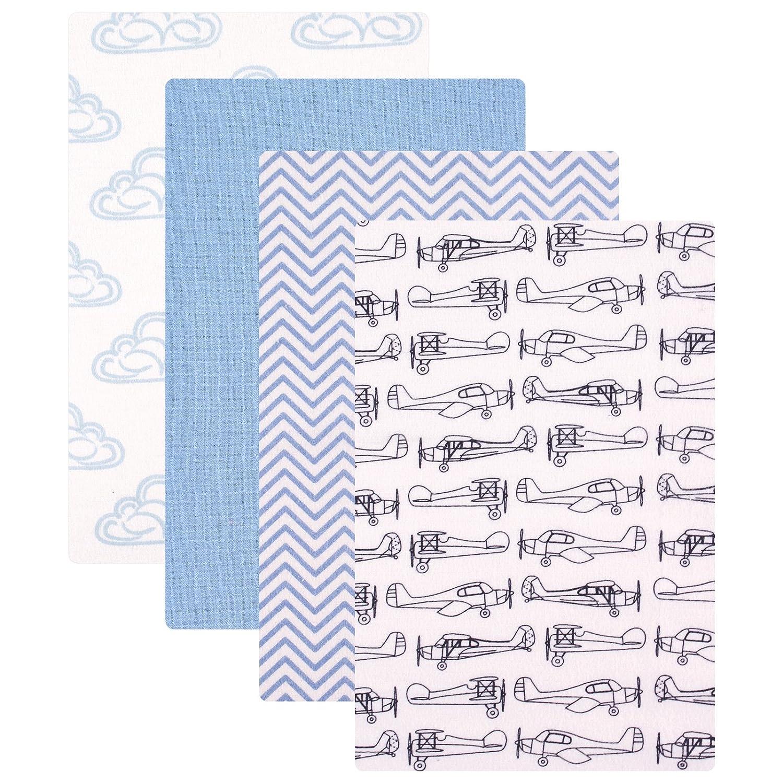 Hudson Baby 4 Piece Flannel Receiving Blankets, Boy Modern BabyVision 50659_BoyModern