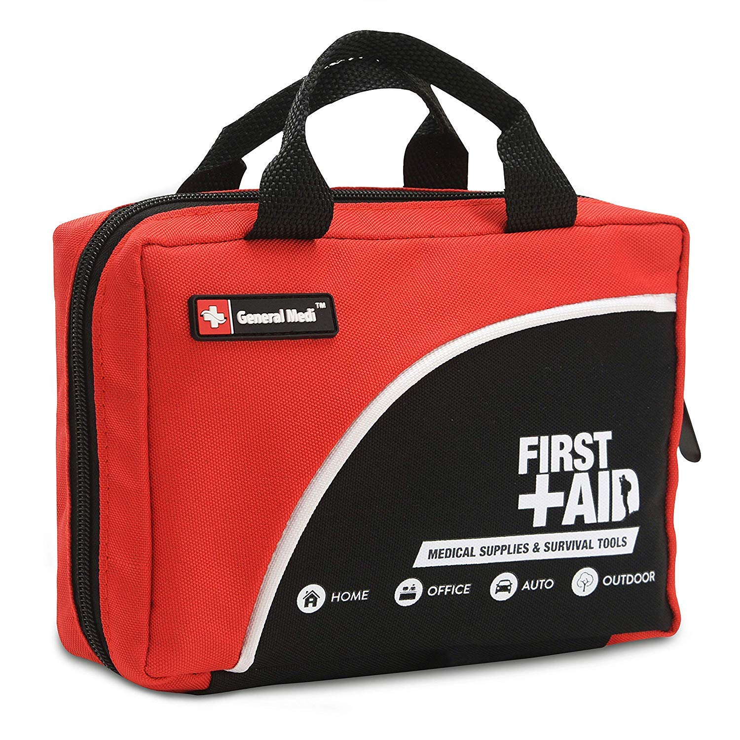 First Aid Kit -160 Pieces Compact and Lightweight - Including Cold (Ice) Pack, Emergency Blanket,CPR Mask,Moleskin Pad,Perfect for Travel, Home, Office, Car, Camping, Workplace by General Medi