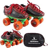 Quad Skate with Warrior Ninja Orange Wheel & Green Frame