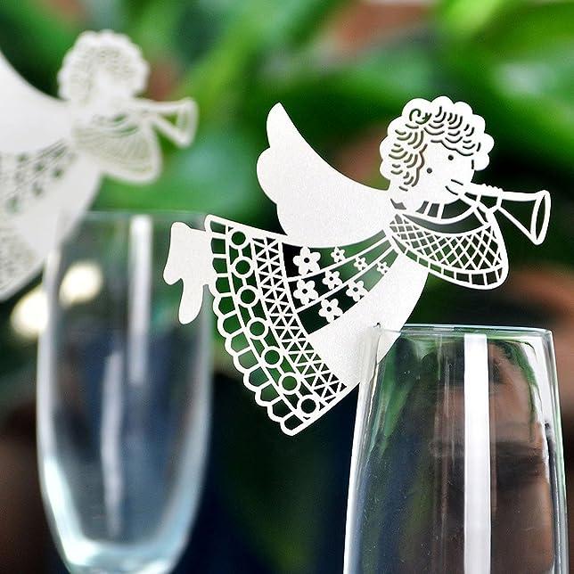 3 opinioni per 50 angeli in cartoncino per tazze e calici, decorazioni da tavolo, cartoncini